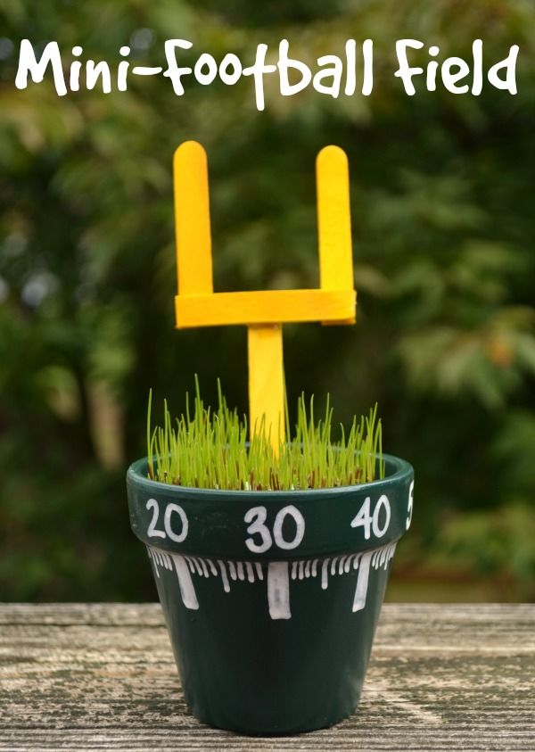 One Artsy Mama - http://www.oneartsymama.com/2014/10/mini-football-field-craft.html