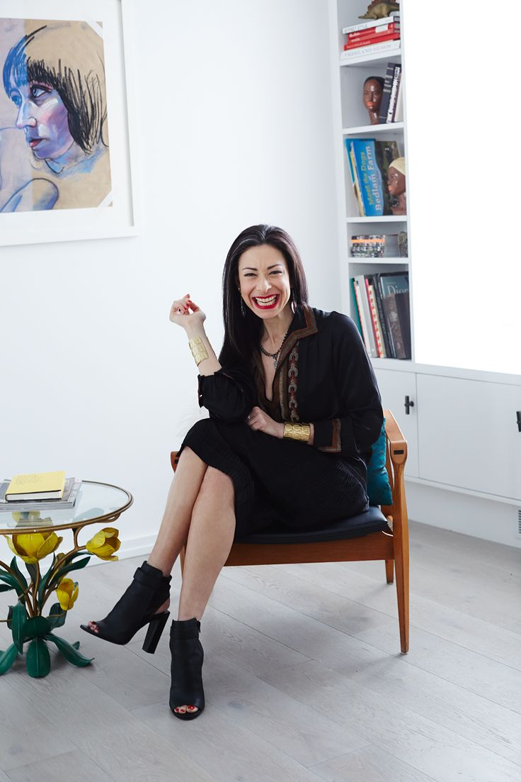 Stacy London's Apartment Is Perfection #refinery29  // Stacy's vintage dress is from NoirOhio on Etsy