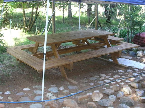 Custom Made Large ThruBolt Picnic Tables by MidCenturyWoodShop
