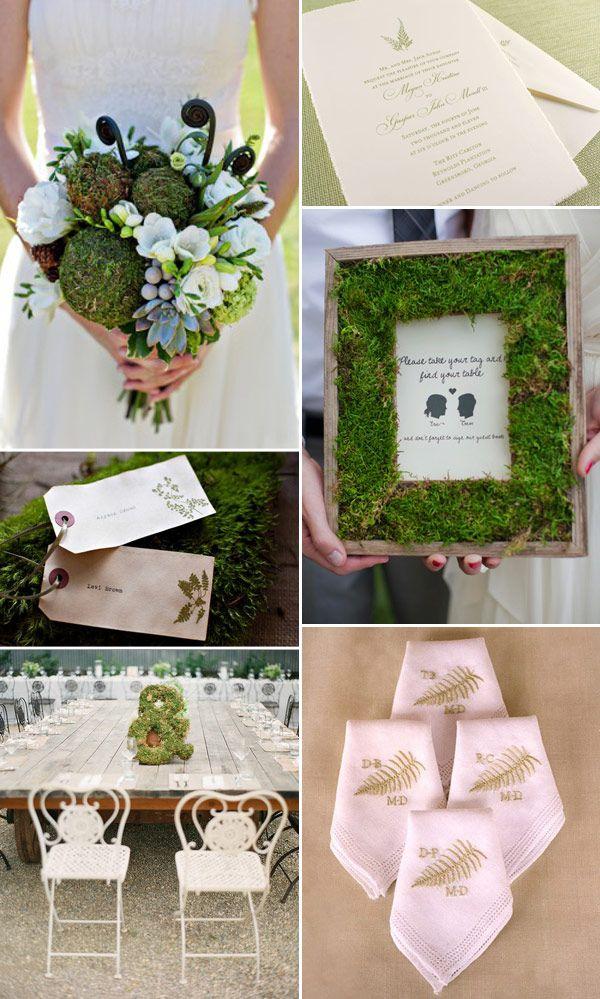 Fern Moss Wedding Decoration, Green Wedding Ideas