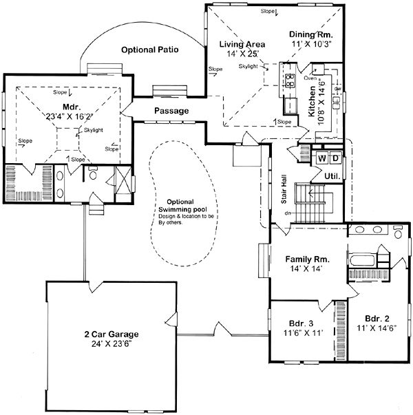 535 best images about floor plan ideas on pinterest home for Modern ranch plans