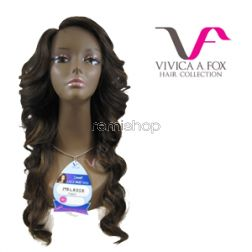 Vivica Fox Invisible Lace Part Wig Melrose  - Color GM30/27/613 - Synthetic (Curling Iron Safe) Invisible L-Part Lace Front - Closed Invisible L-Part