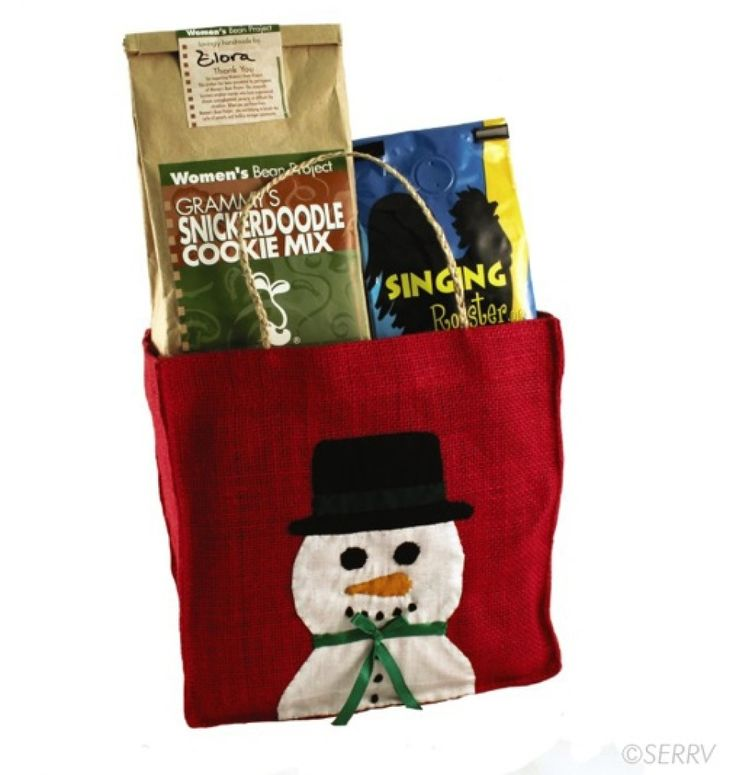 Charity Gift Guide: 15 Gifts That Give Back For The Whole Family Purchase this fair-trade handmade jute gift bag containing Singing Rooster coffee from Haiti and Grammy's Snickerdoodle Cookie Mix from the Women's Bean Project, which fights poverty.