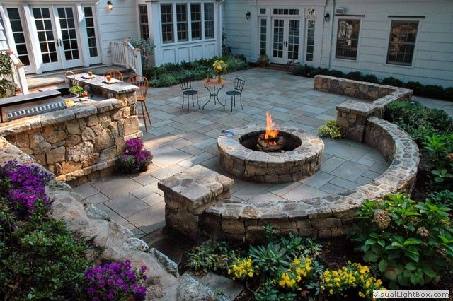Alpinepoppy Landscaping Around The Fire Pit