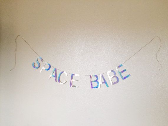 Hey, I found this really awesome Etsy listing at https://www.etsy.com/listing/226300705/holographic-space-babe-banner