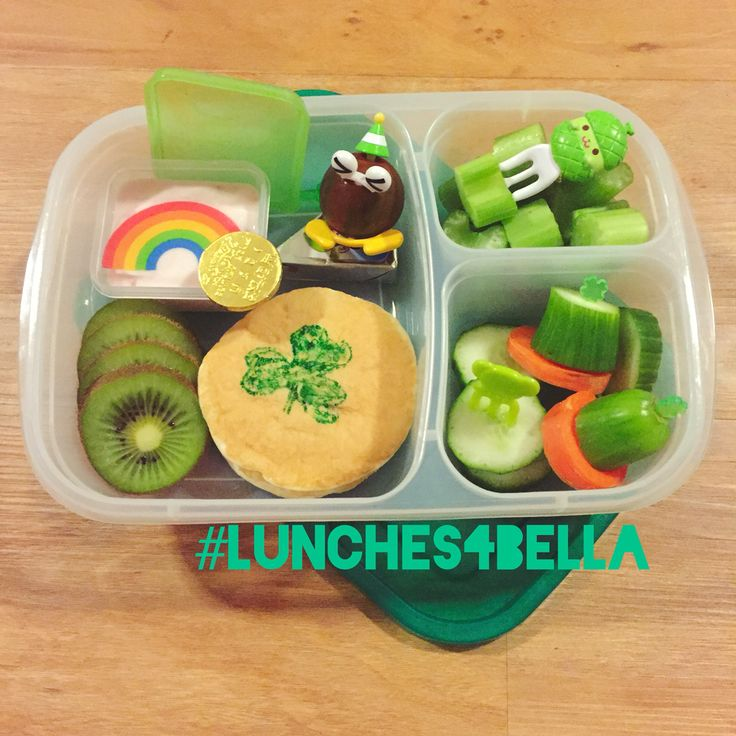 #lunches4bella St Patrick's inspired bento lunch in Easy Lunchbox