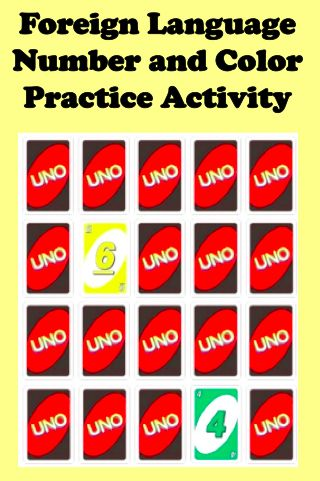Foreign Language Number and Color Practice Activity