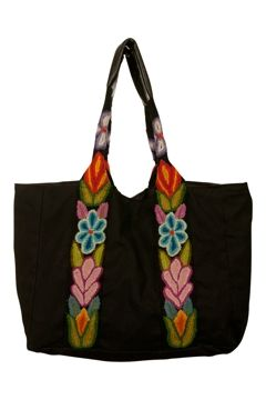 Jenny Krauss Embroidered Floral Tote Bag - Womens Handbags - Birdsnest Fashion Clothing