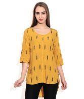 W Yellow Viscose Tops