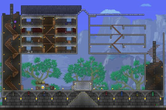 Stone Block Wall Terraria : If the foundation of house is made stone slabs and brick