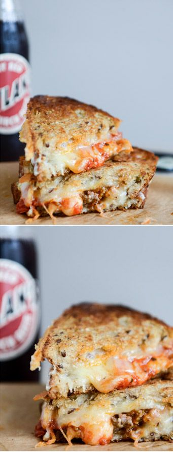 Spicy Mini Meatball Grilled Cheese by @howsweeteats I howsweeteats.com