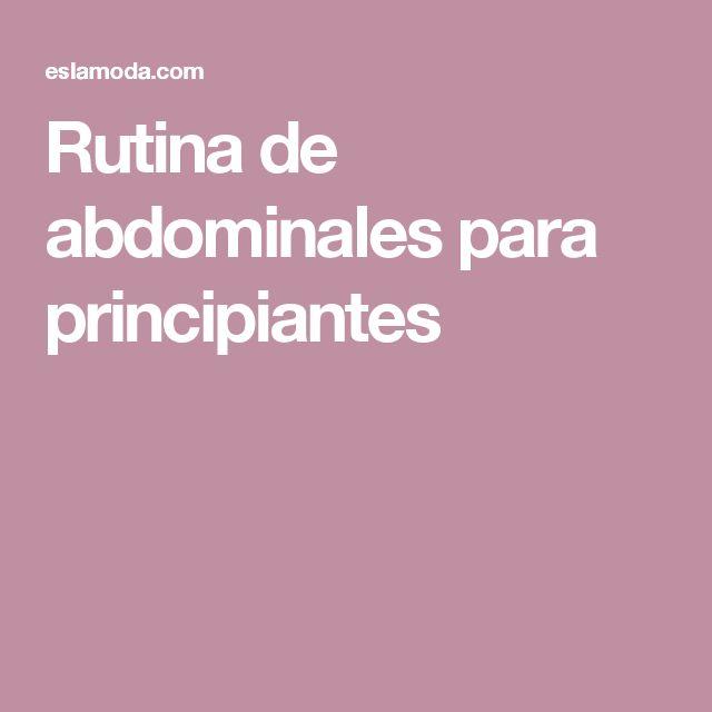 Rutina de abdominales para principiantes