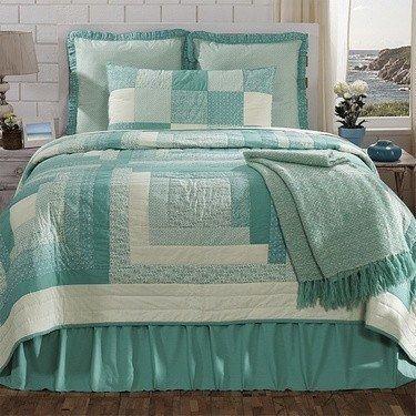 Sea Glass King Quilt Bundle (Quilt, Skirt and 3 Standard Shams) – Primitive Star Quilt Shop