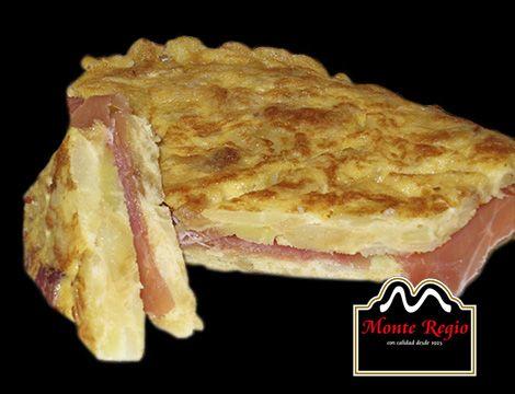 Tortilla de patatas con jamón serrano #MonteRegio ¿hacemos un descanso?