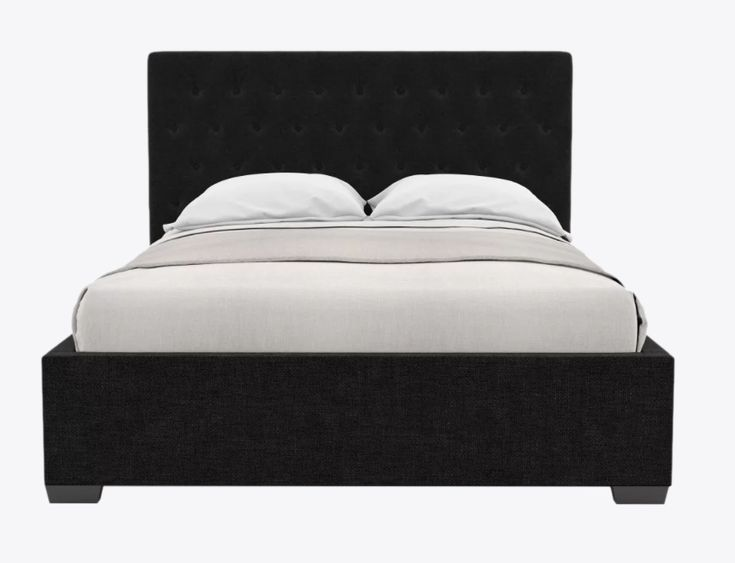 """BED FRAME (Brosa """"Emily"""" Gas Lift Queen in Night Black"""