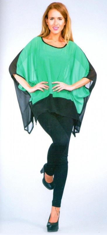 Two Tone Split Sleeve Top by Alibi.  Now: $49.99 #loosefitting #kimono sleeves