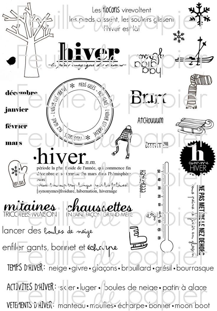 MATERIEL > Tampons > Marie-Laure Bollinger pour Feuille de papier > Collection N° 17 Pieds dans la neige PETIT PRIX - Feuille de papier - Ki...