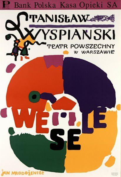 The Wedding Wesele Mlodozeniec Jan Polish Poster