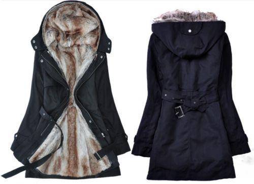 Winter-Womens-Faux-Fur-Lined-Hoodies-Long-Jackets-Overcoats-Outwears-Parka-Coats