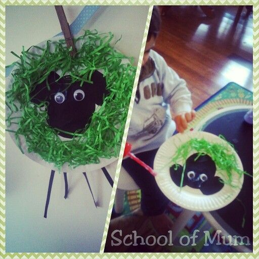Easy craft! Where is the green sheep? Perfect for toddlers