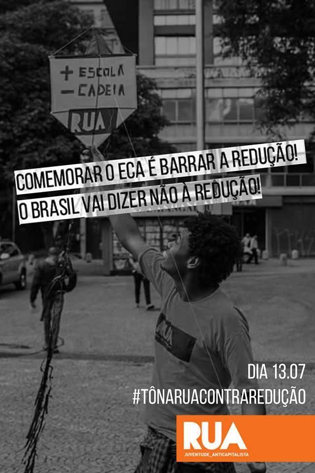 Em comemoração aos 25 anos do Estatuto da Criança e do Adolescente, São Paulo volta a ser palco de mais um ato contra a redução da maioridade penal nesta segunda-feira. O dia, que contará com uma série de ações ao longo do dia, tem abertura às 13h, no Vale do Anhangabaú, com oficinas culturais, além de intervenções artísticas e outras atividades.