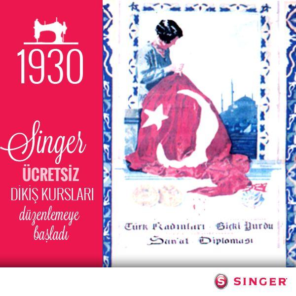 Singer'in 1930'da, kadınların dikiş öğretmeni görevini alıp Türkiye'de de ücretsiz dikiş kursları düzenlemeye başladığını biliyor muydunuz? www.singer.com.tr/kurumsal/nereden-geldik