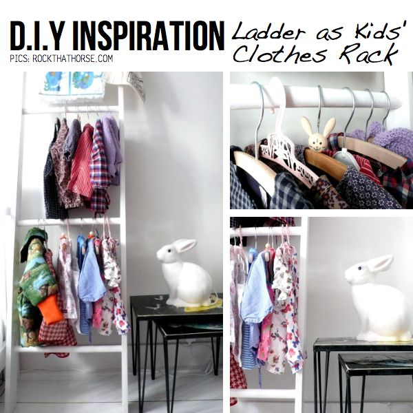 Diy Child Clothes Rack: DIY: Ladder As Kids' Clothes Rack & Many More New Life For