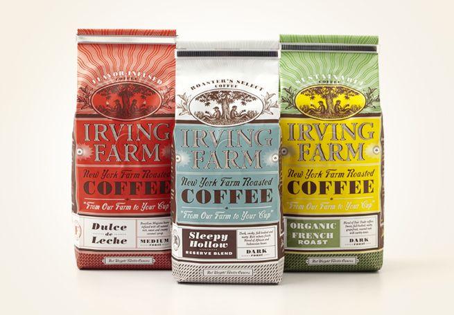 Packaging - Louise Fili Ltd: Coff Bags, Food Packaging, Irving Farms, Louise Fili, Packaging Design, Graphics Design, Coffee Packaging, Coff Packaging, Louis Fili