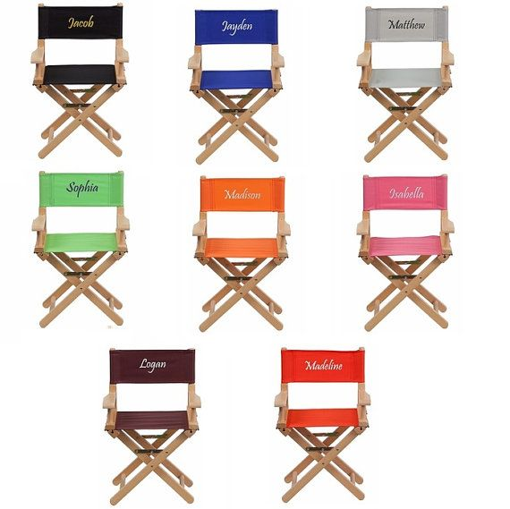 Kids Personalized Directors Chair Canvas Foldable   Embroidered Chair