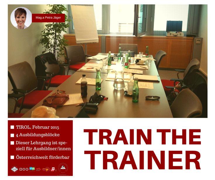 ... neue Info aus #Tirol von der Kollegin Petra Jäger: Warum nehmen Sie nicht im Train the Trainer-Lehrgang für Ausbilder/innen Platz? Ich freue mich!