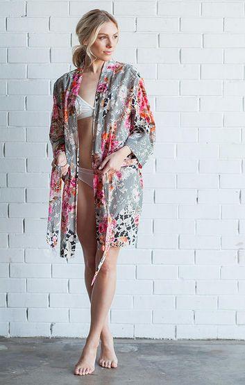 'OLD WORLD BLOOMS' robe - wedding attire