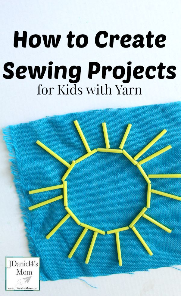 How to Create Sewing Projects for Kids with Yarn- This is a great way to work on fine motor skills.
