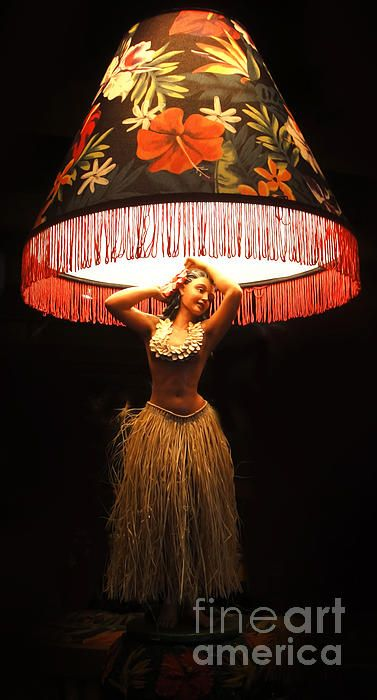 Vintage Hula Girl Lamp....one day I will own one!