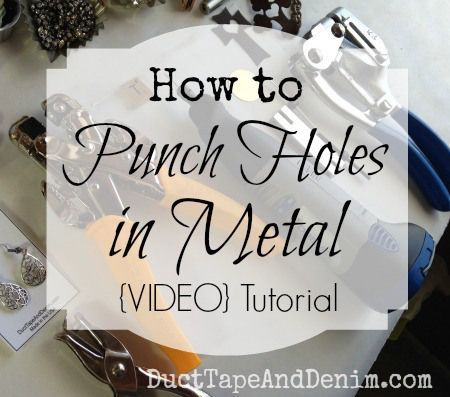 How to punch holes in metal to make jewelry {VIDEO} Tutorial from DuctTapeAndDenim.com