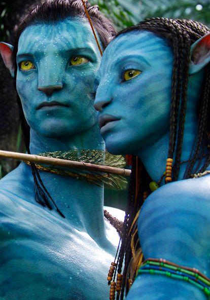 Sam Worthington as Jake Sully and Zoe Saldana as Naytiri | Avatar, Dir. James Cameron, 2009.