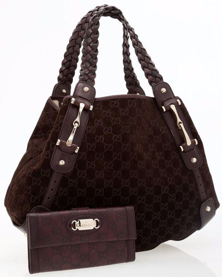Gucci Brown Monogram Suede&Leather Hobo Bag&Monogram Leather Wallet,100% genuine | Clothing, Shoes & Accessories, Women's Handbags & Bags, Handbags & Purses | eBay!