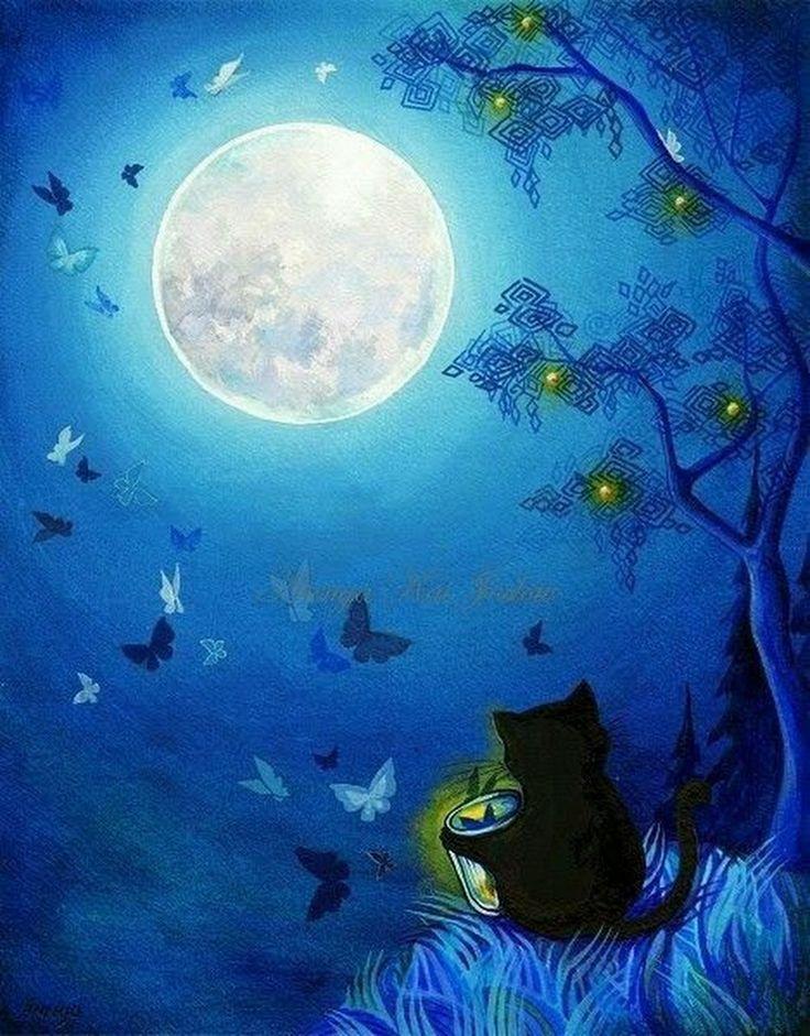 Луна картинки красивые сказочные, папе сына
