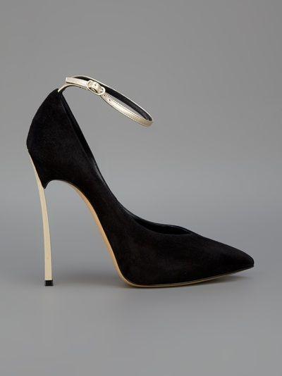 Peep Toe Open Shoes & Heels On Sale, Tangerine Tango, Leather, 2017, 3.5 4 Casadei