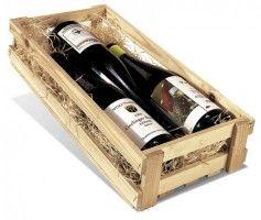 Holzstiege für 3 Flaschen 0,75 ltr.
