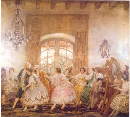 Baile en Santiago  Pedro Subercaseaux