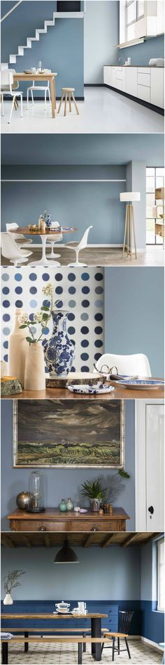 Named as Dulux's 2017 Colour of the Year, Denim Drift is a versatile and neutral palette that allows different textures and materials to take centre stage. When decorating, Denim Drift will complement a spectrum of blue tones. Rich and sophisticated shades will bring your walls to life and exude energy, while the lighter tones are cool and calming with a crisp and airy feel. Get more advice at housebeautiful.co.uk