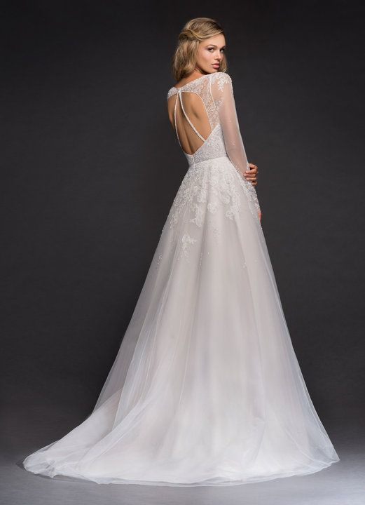 Mara gown from Hayley Paige – Alabaster stardusted lace A-line bridal gown, long…