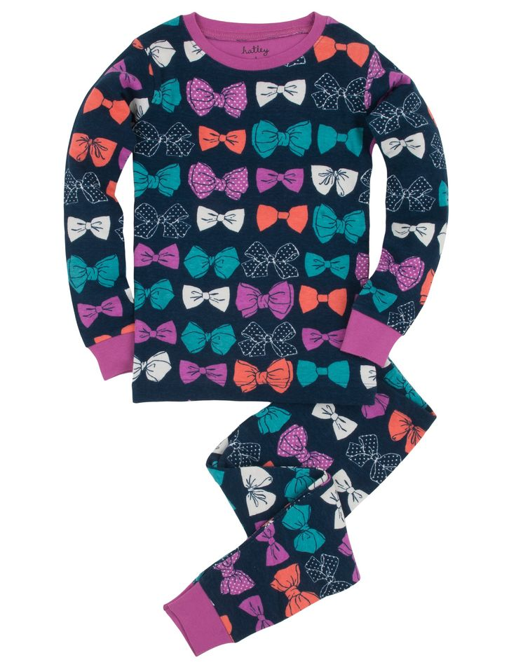 Party Bows PJ Set (Overall Print)
