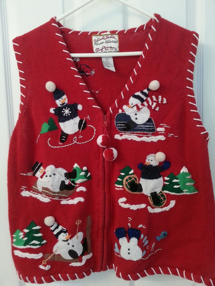 ugly christmas sweater vest. via Etsy.