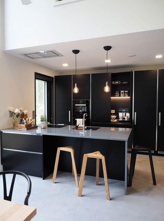 SEINÄJOEN ASUNTOMESSUT: KOHDE 33 LUMIANCE black kitchen scanfinavian