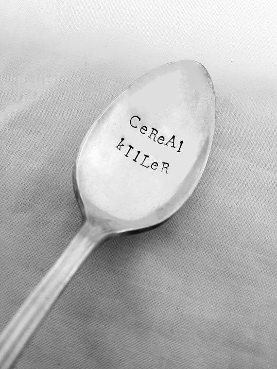 Cereal Killer Spoon Custom Spoon Personalized by SweetMintHandmade