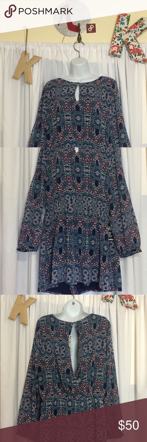 Adorable multi color jumper by Express in size L This jumper is a soft sheer jumper with a liner by Express NWT in size L in a multi blue color and long sleeve 💙 Please ask any questions always happy to answer, Happy Poshing 😊💖💙🎀 Express Other