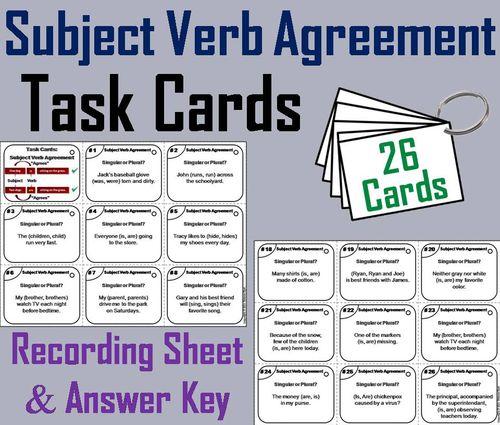 40 best L.3.1.F-Subject-Verb & Pronoun-Antecedent Agreement images ...