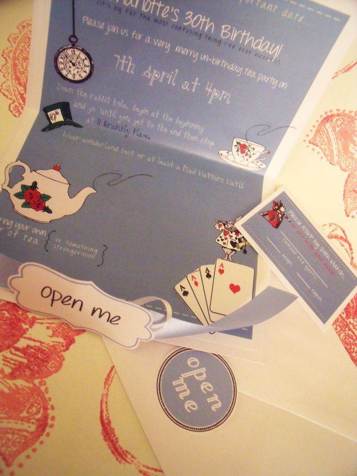 mad hatter teparty invitations pinterest%0A Mad Hatters Tea Party Invites u