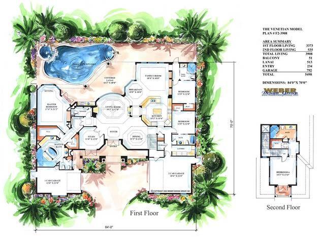 Mediterranean house plan venetian house plan weber for Small mediterranean house plans